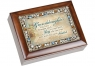 Granddaughter - Jeweled Woodgrain Music Box