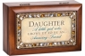 Daughter A Little Girl - Jeweled Woodgrain Petite Music Box