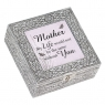 Mother My Life - Large Square Metal Music Box
