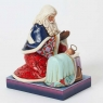 Heaven Rejoice, A King Is Born-Santa Scene By Baby Jesus Figurine