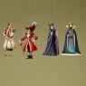 Disney-Ornaments Villians Set of 4