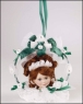 Rosebud Ornament - White Christmas